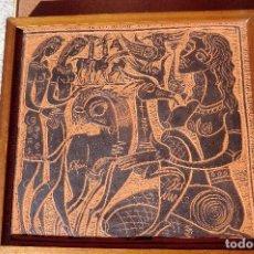 Antigüedades: PLACA CERÁMICA ADRIAN NAVARRO, DISCIPULO PEDRO MERCEDES. 20 X 20 CM.. Lote 73545419