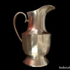Antigüedades: ANTIGUA JARRA DE METAL PLATEADO, PRECIOSA.. Lote 73571255