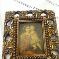 Antigüedades: CUADRO MUY ANTIGUO, VIRGEN CON NIÑO. Lote 73583199