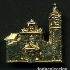 Antigüedades: MEDALLA INSIGNIA ORO FACHADA DE LA IGLESIA PAROQUIA NUESTRA SEÑORA DEL CARMEN-PRADO DELREYCADIZ-Nº31. Lote 73592475