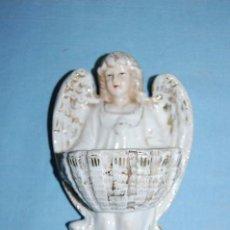 Antigüedades: BENDITERA EN PORCELANA DE 16CM. Lote 73597083