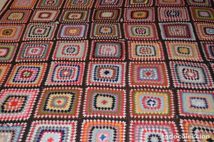 Colcha o manta en crochet de lana comprar colchas for Colchas de punto de lana