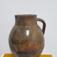 Antigüedades: GRAN OLLA O PUCHERO VIDRIADO DE MANDIL.. Lote 73646611