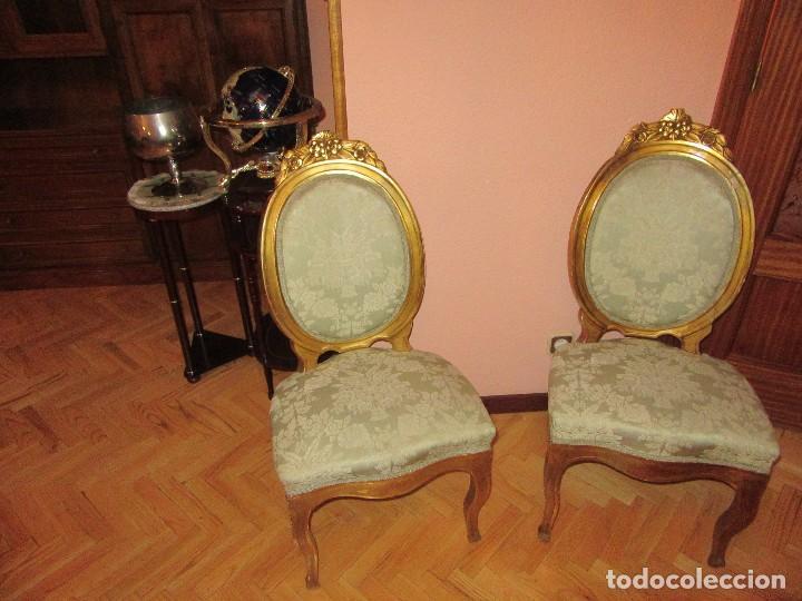 SILLAS PAN DE ORO (Antigüedades - Muebles Antiguos - Sillas Antiguas)
