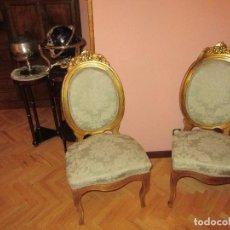 Antigüedades: SILLAS PAN DE ORO. Lote 73675895
