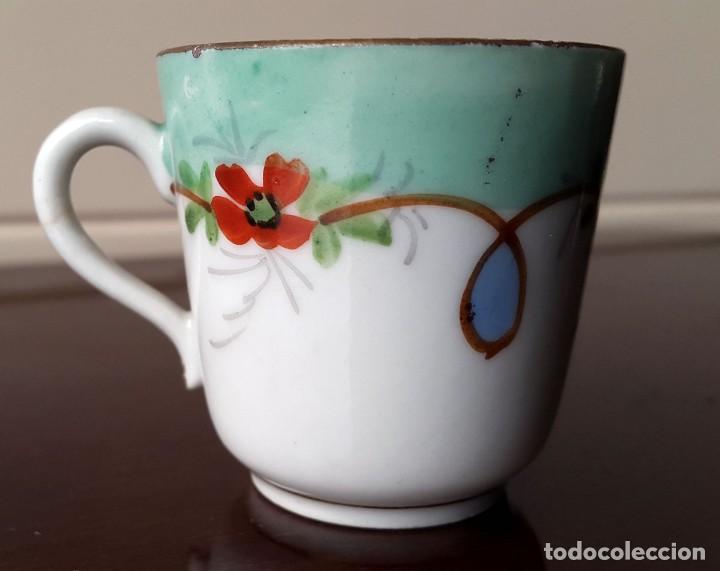 PEQUEÑA TAZA DE CAFE, COLECCIÓN. XIX. 4CM. (Antigüedades - Porcelana y Cerámica - Francesa - Limoges)