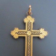 Antigüedades: ANTIGUO COLGANTE CRUZ RELIGIOSA. CRUCIFIJO. HECHO A MANO.. Lote 73685695