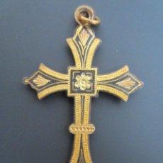 Antigüedades: ANTIGUO COLGANTE CRUZ RELIGIOSA. CRUCIFIJO. HECHO A MANO.. Lote 73689823
