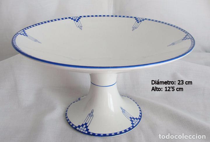 Antigüedades: LOTE TRES PIEZAS ANTIGUAS PORCELANA SAN JUAN SEVILLA ART DECO - Foto 7 - 194996257