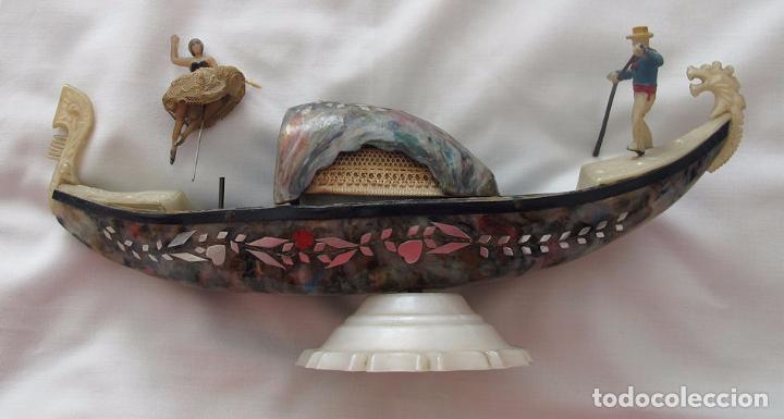 Antigüedades: GONDOLA ANTIGUA VENECIA BAQUELITA MULTICOLOR CAJA JOYERO - Foto 3 - 73694207