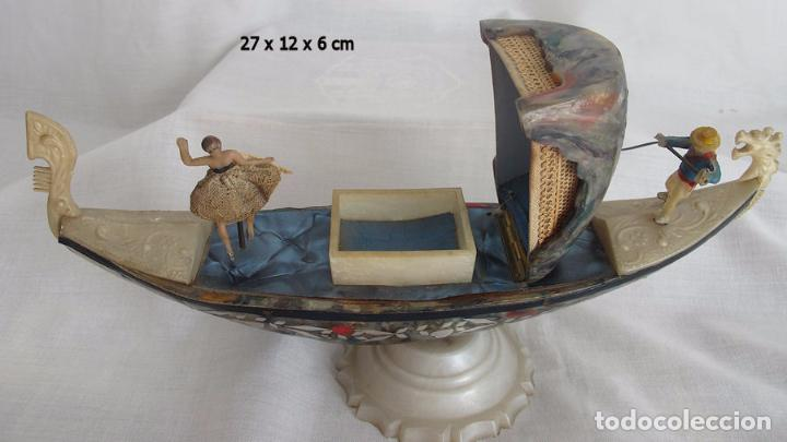 Antigüedades: GONDOLA ANTIGUA VENECIA BAQUELITA MULTICOLOR CAJA JOYERO - Foto 5 - 73694207