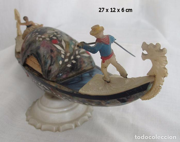 Antigüedades: GONDOLA ANTIGUA VENECIA BAQUELITA MULTICOLOR CAJA JOYERO - Foto 6 - 73694207