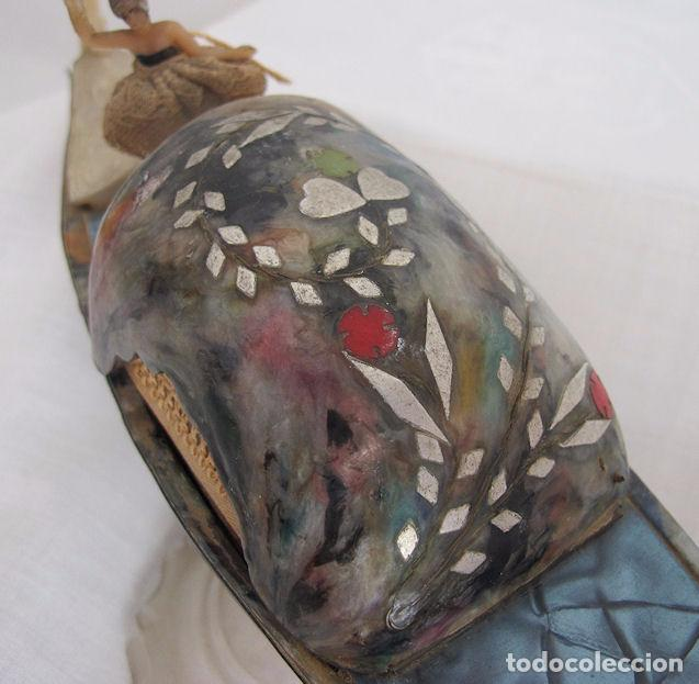 Antigüedades: GONDOLA ANTIGUA VENECIA BAQUELITA MULTICOLOR CAJA JOYERO - Foto 7 - 73694207