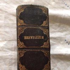 Antigüedades: BREVARIUM ROMANO-SERAPHICUM .ENC. DE ÉPOCA CON HERRAJES 1858 . Lote 73712155