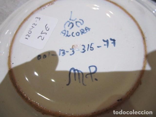 Antigüedades: 3 Platitos en cerámica de Alcora. 13 cms. diámetro. - Foto 6 - 73767799