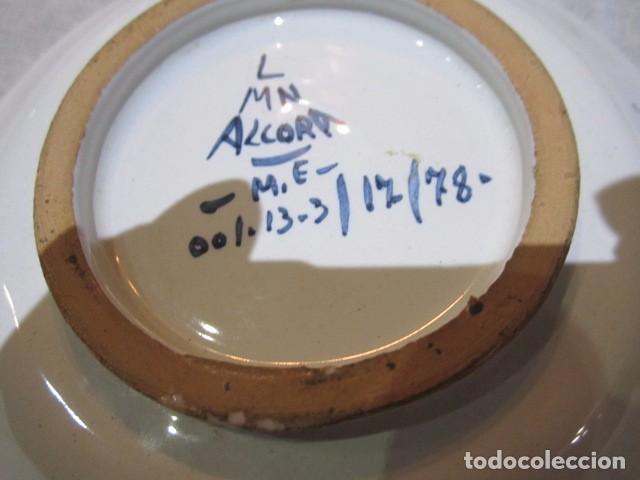 Antigüedades: 3 Platitos en cerámica de Alcora. 13 cms. diámetro. - Foto 7 - 73767799