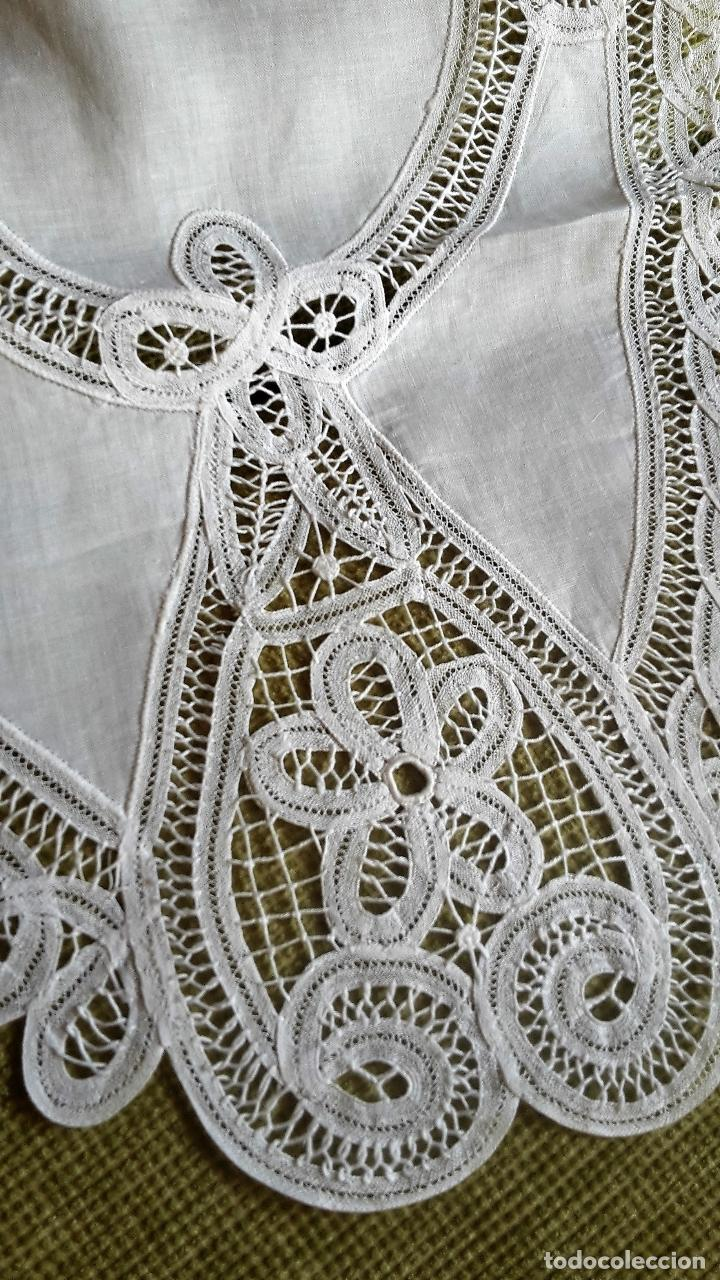 Antigüedades: Encajes de Belgica,precioso camino de mesa.Blanco 75 x 30 cm. nuevo - Foto 8 - 73770619