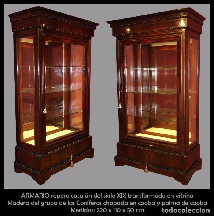 Armario ropero catalan del siglo xix transform comprar - Armarios roperos antiguos ...
