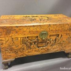 Antigüedades: BAUL ARCON DE MADERA ORIENTAL AROMATICA -IMPECABLE. Lote 73815466
