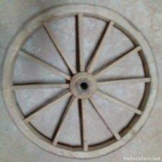 Antigüedades: 1 RUEDA DE MADERA. Lote 73830095