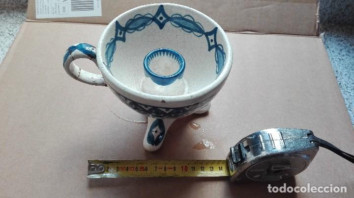 Antigüedades: Antiguo porta verlas de porcelana - Foto 2 - 73831311