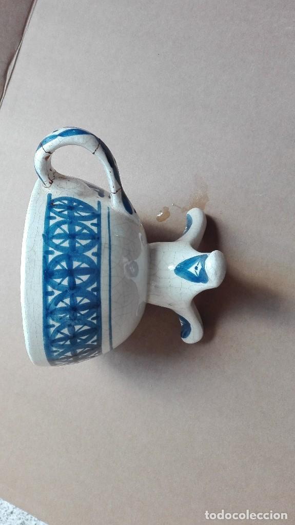 Antigüedades: Antiguo porta verlas de porcelana - Foto 4 - 73831311