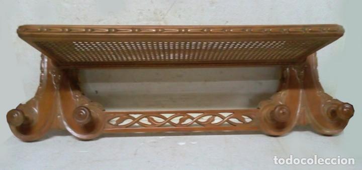 ANTIGUO Y MUY BONITO PERCHERO SOMBRERERO DE ENTRADA (Antigüedades - Muebles Antiguos - Auxiliares Antiguos)