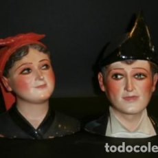 Antigüedades: PAREJA DE ASTURIANOS EN TERRACOTA. Lote 73851195