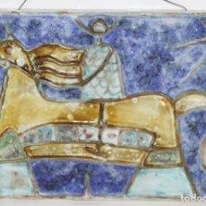 Antigüedades: PLAFÓN. CERAMICA. PINTADO A MANO. ESPAÑA. SIGLO XX.. Lote 73864875