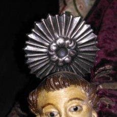 Antigüedades: ANTIGUA TORTA CORONA PLATA ? DIADEMA RESPLANDOR PARA SANTO VIRGEN CRISTO NIÑO JESUS SEMANA SANTA. Lote 73905771