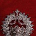 Antigüedades: Corona de Virgen con baño de plata (nuevo). Lote 73907065