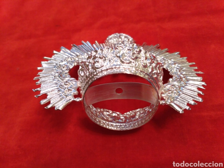 Antigüedades: Corona de Virgen con baño de plata o dorado 3,5 cm de diámetro (nuevo) - Foto 2 - 219968100