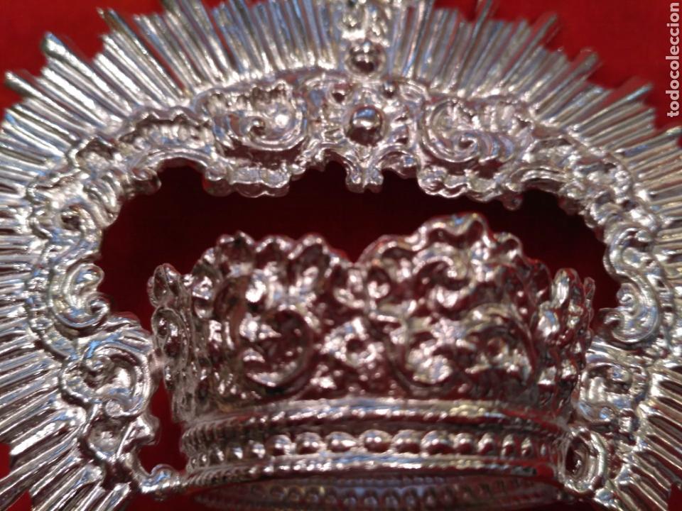 Antigüedades: Corona de Virgen con baño de plata o dorado 3,5 cm de diámetro (nuevo) - Foto 3 - 219968100