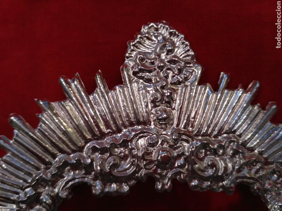 Antigüedades: Corona de Virgen con baño de plata o dorado 3,5 cm de diámetro (nuevo) - Foto 4 - 219968100