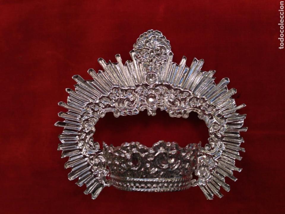 Antigüedades: Corona de Virgen con baño de plata o dorado 3,5 cm de diámetro (nuevo) - Foto 5 - 219968100