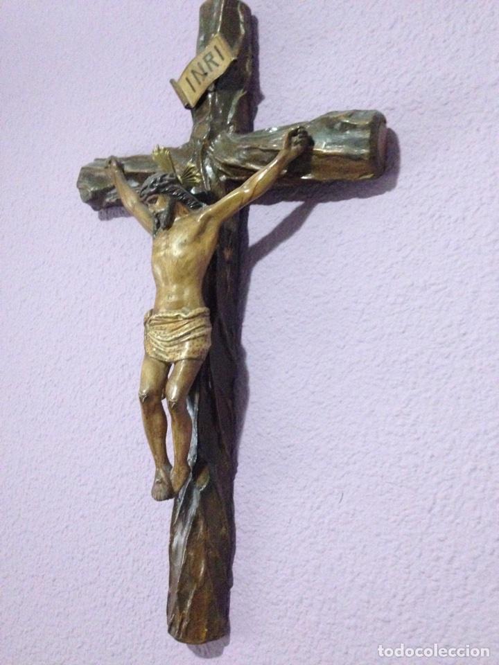 CRISTO , CRUCIFIJO , TALLA , CRUCIFICADO , SEMANA SANTA , CRISTO ANTIGUO (Antigüedades - Religiosas - Crucifijos Antiguos)