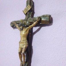 Antigüedades: CRISTO , CRUCIFIJO , TALLA , CRUCIFICADO , SEMANA SANTA , CRISTO ANTIGUO. Lote 73921918