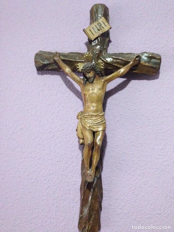 Antigüedades: Cristo , Crucifijo , talla , crucificado , Semana Santa , Cristo antiguo - Foto 5 - 73921918