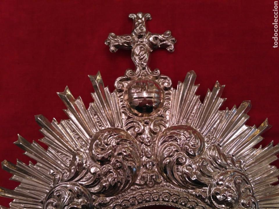 Antigüedades: Diadema de Virgen dorada (nuevo) - Foto 2 - 73941433