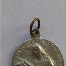 Antigüedades: MEDALLA DE SANTA RITA DE 1,7 CMS DE DIAMETRO. Lote 73942879