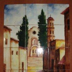 Antigüedades: CUADRO DE ANTIGUAS BALDOSAS PINTADAS A MANO, FIRMADO.. Lote 73950235
