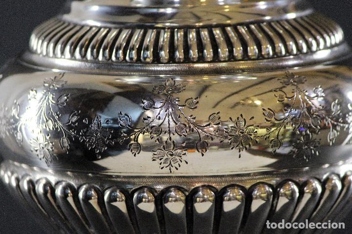 Antigüedades: JARRON EN PLATA LEY MARCADO CON CONTRASTE 833/1000 - Foto 4 - 73962403
