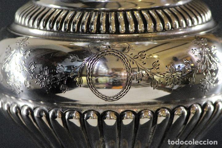 Antigüedades: JARRON EN PLATA LEY MARCADO CON CONTRASTE 833/1000 - Foto 7 - 73962403