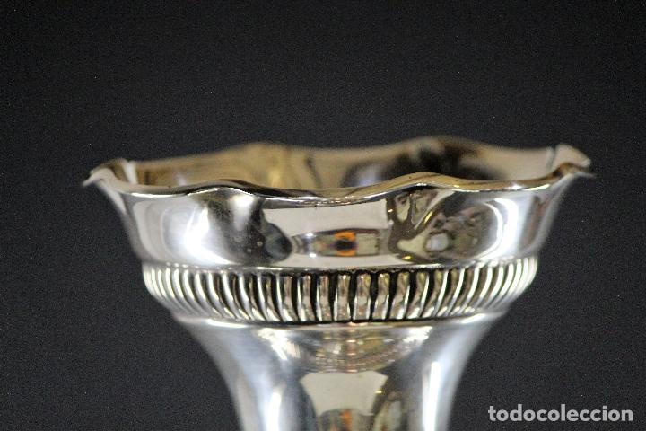 Antigüedades: JARRON EN PLATA LEY MARCADO CON CONTRASTE 833/1000 - Foto 8 - 73962403