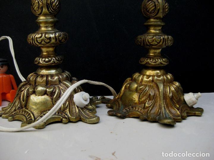Antigüedades: LAMPARAS ANTIGUAS BRONCE PARA IDEAL ALTAR O MESITAS - Foto 2 - 160475230
