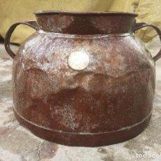 Antigüedades: CARRO DE ORDEÑO DE HOJALATA DE CASA ORIA, MADRID. Lote 73968675