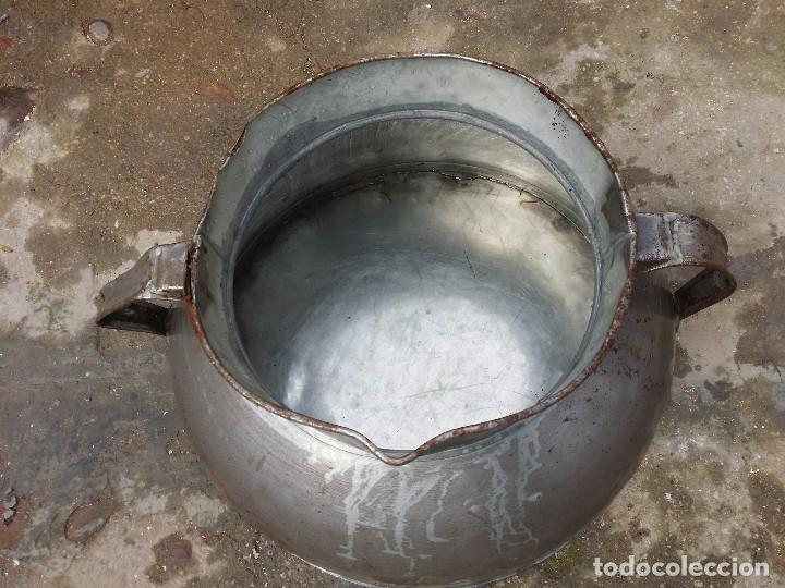 Antigüedades: Tarro de ordeño de hojalata. - Foto 2 - 236499110
