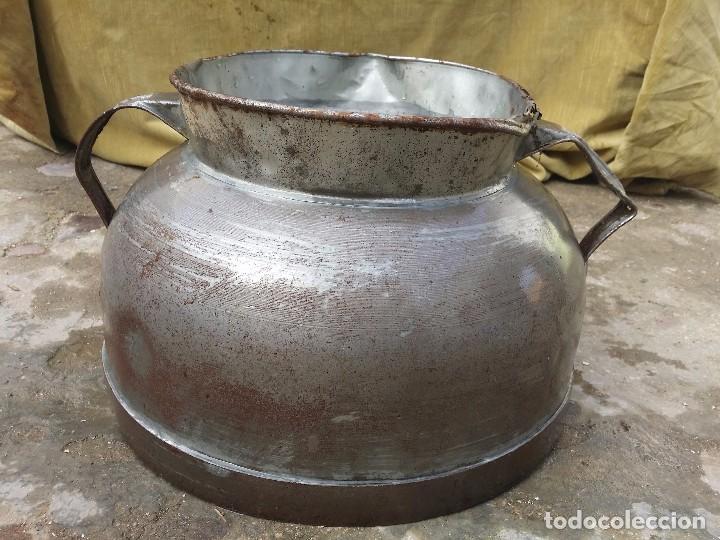 Antigüedades: Tarro de ordeño de hojalata. - Foto 3 - 236499110