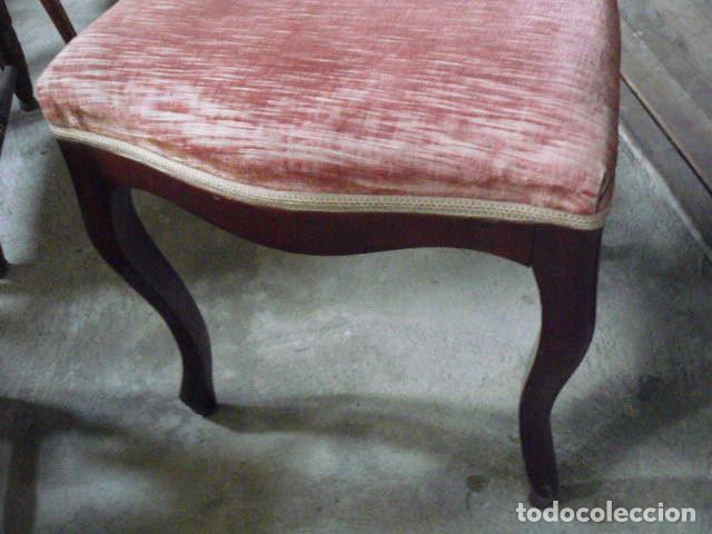 Antigüedades: LOTE DE SEIS SILLAS ISABELINAS - Foto 4 - 73979043