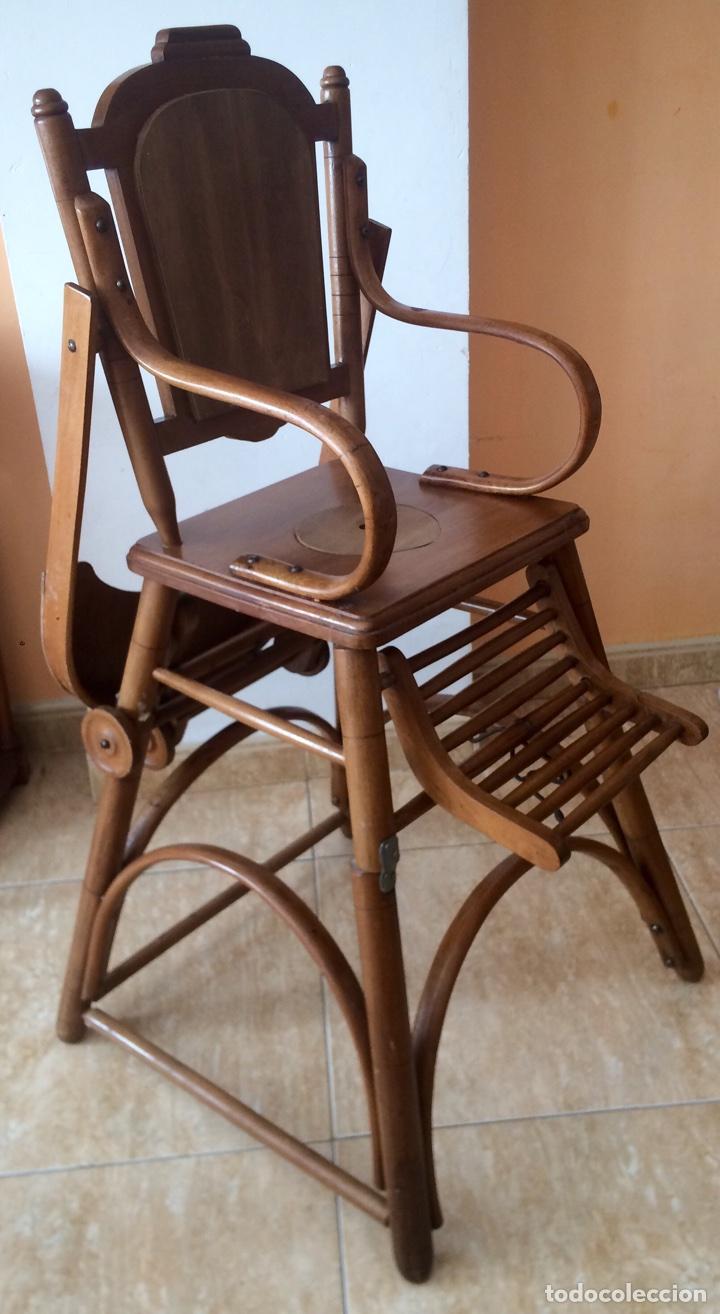 Trona silla bebe de madera de haya estilo thone comprar for Silla de bebe de madera
